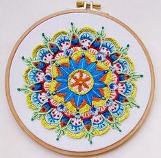 אילנה פולק רקמה על הדפס מוניטה Hand Embroidery, Beach Mat, Outdoor Blanket, Cute, Kawaii