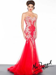 Black White Red by Mac Duggal Style 81901R now in stock at Bri'Zan Couture, www.brizancouture.com