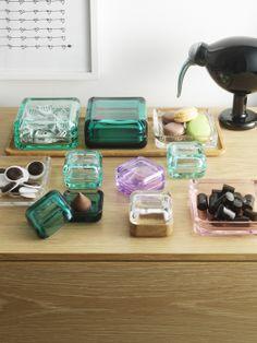 Vitriini Boxes by Anu Penttinen for Iittala http://www.iittala.fi/web/iittalaweb.nsf/en/store_locator?open=USA=Oregon