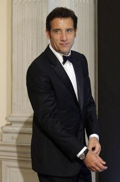 """Clive Owen as Tom Sheridan - """"Is this the part where I ruin your shoes again with spilt champagne?"""" he said with a small laugh, his gaze drifting away. Skyfall, Daniel Craig, James Bond, Clive Owen, Costume, Dapper, Suit Jacket, Elegant, Ruin"""