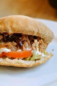 Pulled Pork, Food And Drink, Bread, Cooking, Ethnic Recipes, Drinks, Shredded Pork, Kitchen, Drinking