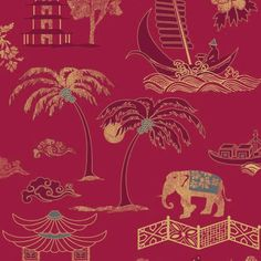August Moon Designer Wallpaper from Nilaya by Asian Paints