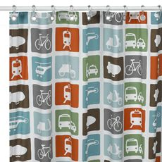 For the boys bathroom with Orange Burst benjamin moore paint Extra Long Shower Curtain, Long Shower Curtains, Fabric Shower Curtains, Laundry Room Bathroom, Bathroom Colors, Bathroom Ideas, Bathrooms, Boy Bath, Benjamin Moore Paint