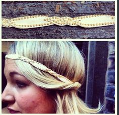 Suede stud wrap head band