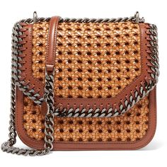 Stella McCartney The Falabella Box medium woven faux leather shoulder... (4.110 DKK) ❤ liked on Polyvore featuring bags, handbags, shoulder bags, bolsa, purses, tan, hand bags, crossbody handbags, tan crossbody purse and man shoulder bag