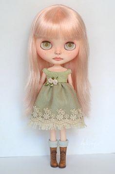 Dress for Blythe or similar 1/6 dolls by ByArtemis on Etsy