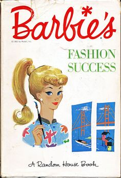 Vintage Book BARBIE'S FASHION SUCCESS Hardcover by lindapaloma 1962
