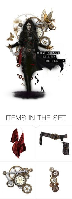 """What Doesn't Kill Me, Better Run(SS&D)"" by the-greatest-love ❤ liked on Polyvore featuring art"