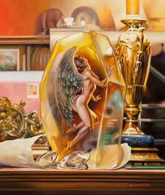 Amber - Boris Vallejo and Julie Bell Julie Bell, Boris Vallejo, Fantasy Posters, Fantasy Artwork, Russian Painting, Russian Art, Art Visionnaire, Carlos Castaneda, Bell Art
