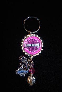 Pink Harley Keychain/Purse Charm $15