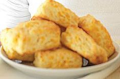 Quick and easy Cheddar Biscuits. Yummy. The only problem is they won't stick around if you're not careful! They'll get eaten up before you get one.