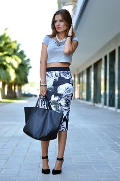 PRINTED PENCIL SKIRT – Mi Aventura Con La Moda