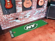 New York Jets Putting Green Runner by Fanmats. $23.80. New York Jets Putting Green RunnerOfficially licensed putting green runner. Realistic putting surface. 11 on the Stimp meter. Chromojet-printed nylon surface with vinyl backing. Can be used as a runner when not practicing. Comes with plastic target and flag. Please note: These products are custom made. The normal lead time is about 7-10 business days. However, the putting mats and carpet tiles do take a little longer,...
