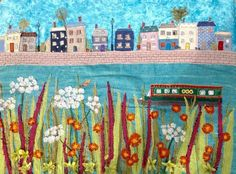 Jackie Gale Textile Art.  Meet Me At The River.