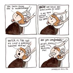 Hairdresser time...⠀ .⠀ I coloured this older comic as I'm still caught up in deadlines :)