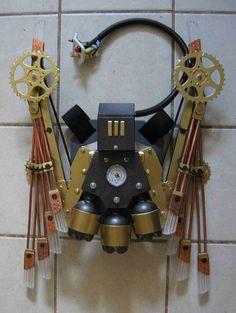 Deluxe Steampunk Wings - Open 6 Feet Wide. $1,400.00, via Etsy.