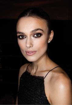 Minimal + classic: a perfect bold eye on Keira Knightley.
