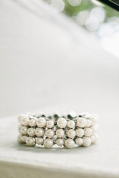Pearl Cuff Bridal Jewelry | photography by http://www.brookeimages.com/