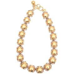 Preowned Vintage Anne Klein Gold Ball/ Silver Loop Necklace (825 AUD) ❤ liked on Polyvore featuring jewelry, necklaces, gold, link necklaces, gold necklace, vintage silver necklace, silver necklace, silver ball necklace and gold jewelry