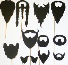 11 - Beards on a Stick photobooth PROPS wedding fu man chu mustache stache mustashe WEDDING bash photo prop