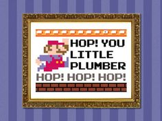 Hop you little plumber