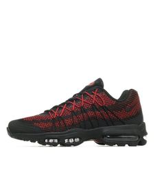 innovative design eb226 6a7c9 Nike Air Max 95 Ultra Jacquard Black Red Trainers Sale Air Max 95 Ultra, Air