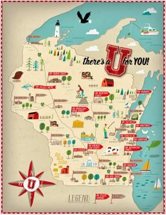 Illustrated map by Nate Padavick for University of Wisconsin