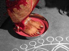 Bridal Feet Bengali Hindu wedding