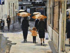Umbrellas. 65x54. 2011.
