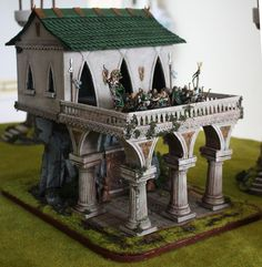 Image Fantasy City, Fantasy Castle, Castle Crafts, Gothic Buildings, Game Terrain, Medieval Houses, Wargaming Terrain, Chinese Architecture, Arquitetura