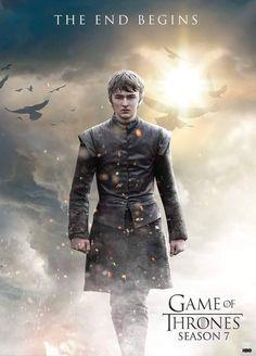 Game of thrones season 7 poster. Bran Stark, the end begins Game Of Thrones Saison, Watch Game Of Thrones, Game Of Thrones Fans, Movies And Series, Best Series, Tv Series, Khal Drogo, Winter Is Here, Winter Is Coming