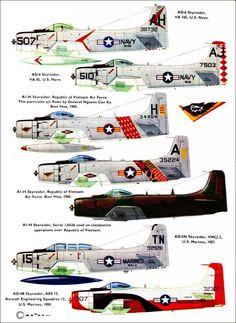 Profile N°60 - Douglas Skyraider http://maquettes-avions.hautetfort.com/archive/2011/03/06/profile.html