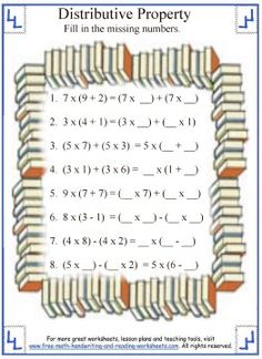 math worksheet : distributive property math centers and worksheets on pinterest : Distributive Property Of Multiplication Worksheets 4th Grade
