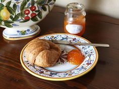 Apricot Amaretto jam. Made a mess of this today Used a Tablespoon of citric acid in place of the lemon. and a 1/2 teaspoon of butter. So sweet and delish.