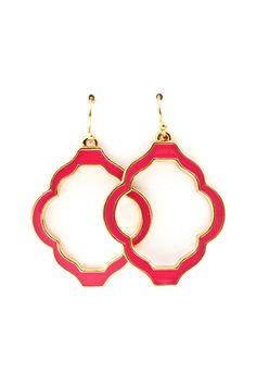Madison Cutout Earrings in Raspberry Fuchsia