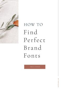 How to find the perfect fonts for your brand. How to pair fonts and understand the various types of fonts and the best uses for each. Learn how fonts can tell a message about your brand and position your brand. How to find good free fonts for branding. Create A Brand Logo, Creating A Brand, Vintage Fonts Free, Best Free Fonts, Brand Fonts, Creative Business, Business Tips, Custom Fonts, Blog Writing