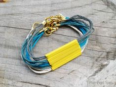 Stacked Ombre Cording Bracelets -Flamingo Toes