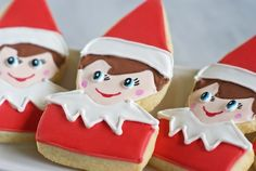 Elf on the Shelf cookies - How to!