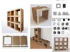Como hacer muebles modulares de cartón, hazlo tu mismo !!! http://ecoinventos.com/muebles-modula…