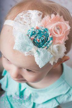 Baby Girl Headbands  Baby Girl  Hair Bow  por LittlePearlBoutique, $13.00