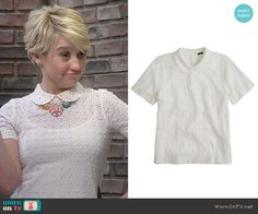 Riley's white collared eyelet top on Baby Daddy.  Outfit Details: http://wornontv.net/50044/ #BabyDaddy