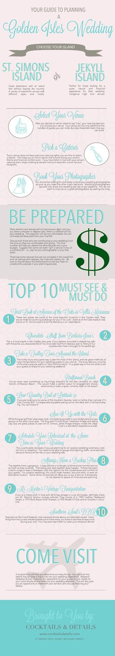 Your Guide to Planning a Golden Isles Wedding :: INFOGRAPHIC :: #stimonsisland
