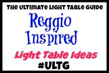 Reggio Inspired PLay and Learning Ideas from The Ultimate Light Table Guide #ULTG