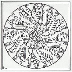 August Mandala 4 Wip by Artwyrd.deviantart.com on @deviantART
