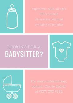 babysitting templates