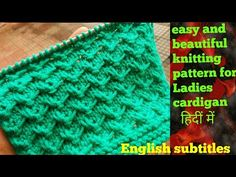 9d19857450a73 Easy and beautiful Sweater design for ladies cardigan and all projects in  Hindi English subtitles.