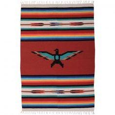 Heavy Hand Woven Blanket - Thunderbird Design