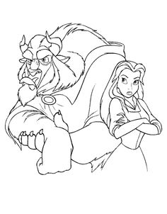 But The Pouty Faces Are Cute Beauty And Beast Coloring Pages