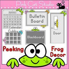 Frog Theme - Peeking Frog Character