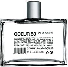 comme des garcons, odeur 53, packaging